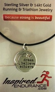 2nd Prize: SS Dream, Believe, Achieve Charm and Necklace (Value $50)